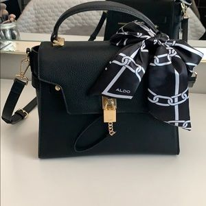 Aldo Black Lock Purse